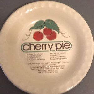 Cherry pie recipe plate